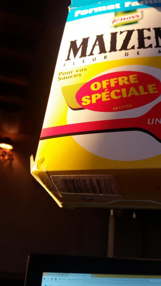 Et si Maîzena rendait étanche son carton d'emballage ..ça m'éviterait de colmater les coins avec du scotch !!