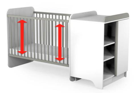 Et si Galipette proposait un lit à hauteur modulable - Cela éviterait aux parents de se casser le dos en déposant leur enfant jusqu'au sol