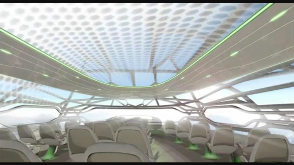 Et si Air France mettait en ligne le premier avion au toit transparent.on pourrait en plein vol bénéficier de la voute céleste comme paysage