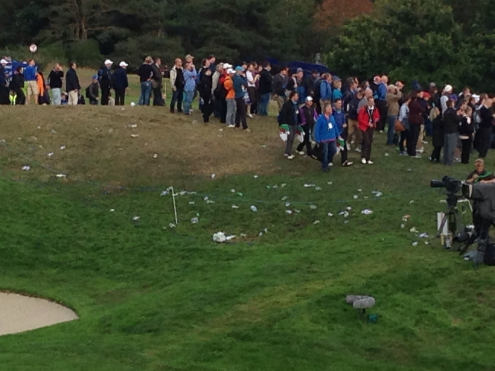 What if crowds maybe more respectfull for nature and people who will have to clean Gleneagles after the  Ryder Cup .