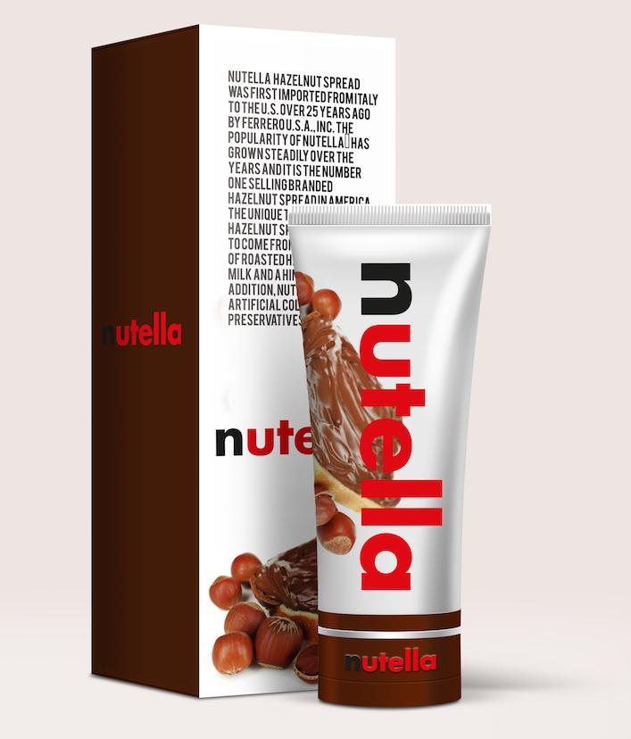 Et si Nutella vendait des tube de nutella plus pratique que les pots