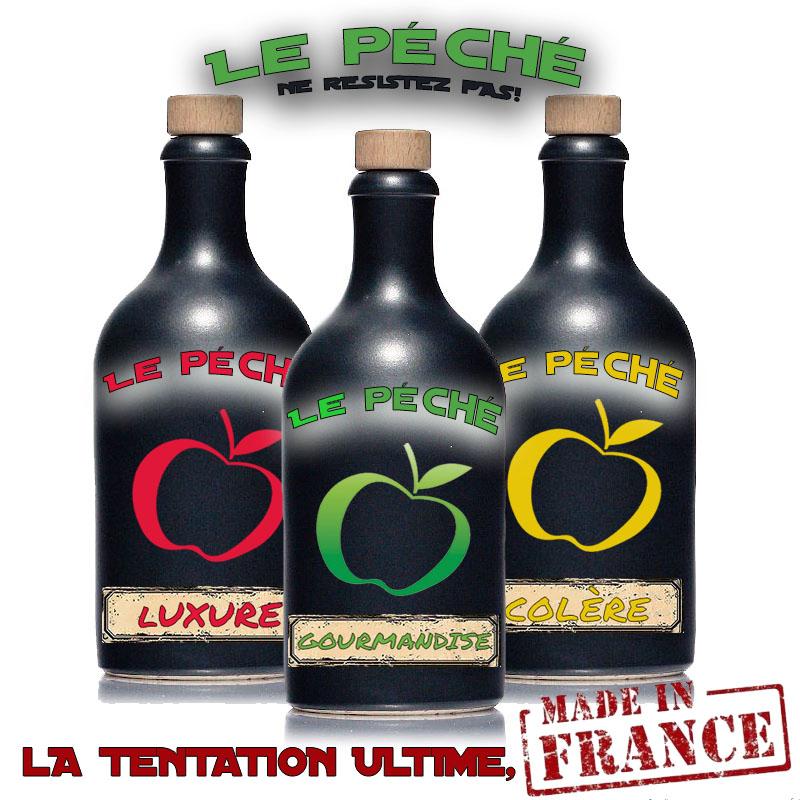 """Et si c'était """"LE PÉCHÉ"""" Gourmandise pour le basique, Luxure pour le doux, Colère pour le fort. LE PÉCHÉ, l'Ultime Tentation made in France!"""