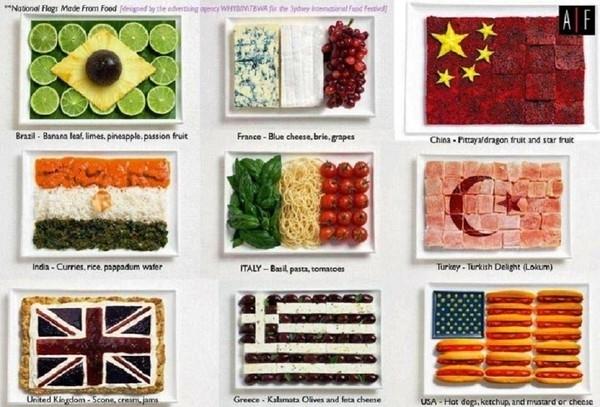 Et si Air France proposait un menu typique de la destination ? Avec une petite fiche historique et culinaire expliquant ce que l'on mange !