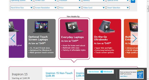 Et si le site utilisait un slider/carousel pour présenter les produits. Plus ergonomique, lisible et pratique que la liste actuel ! :)