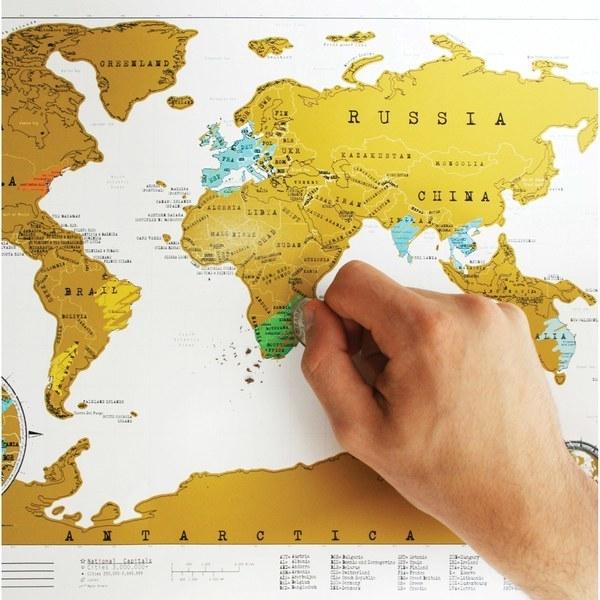 Et si on grattait une mini-map monde ! Un nombre limité de pays à gratter avec découverte des gains instantanée. Et un voyage en super lot !