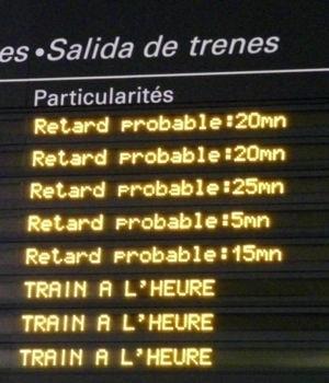 Et si le retard du train était affiché en temps réel sur le portail 5min; 10min; 35min...