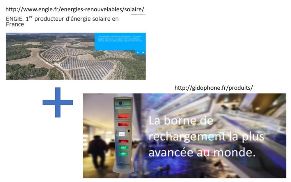 Et si Engie énergie renouvelable s'associait à un producteur de totem de recharge pour appareils mobile à dispo de tous dans des commerces?