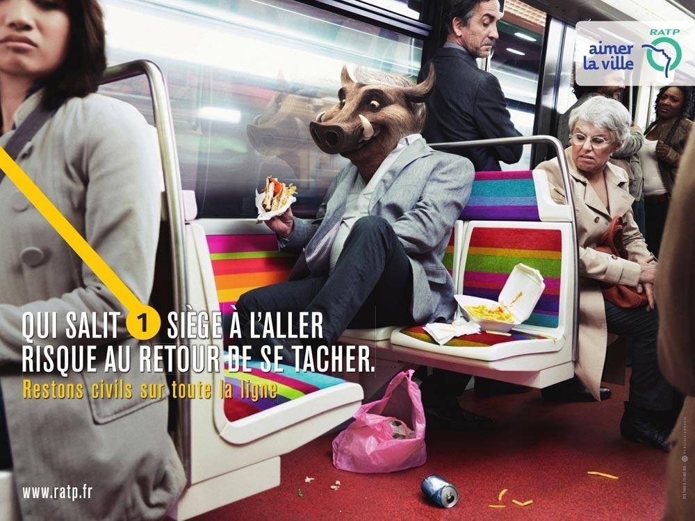 Et si la Sncf sensibilisait davantage et de manière ludique ses utilisateurs à la propreté ? cf. pubs RATP