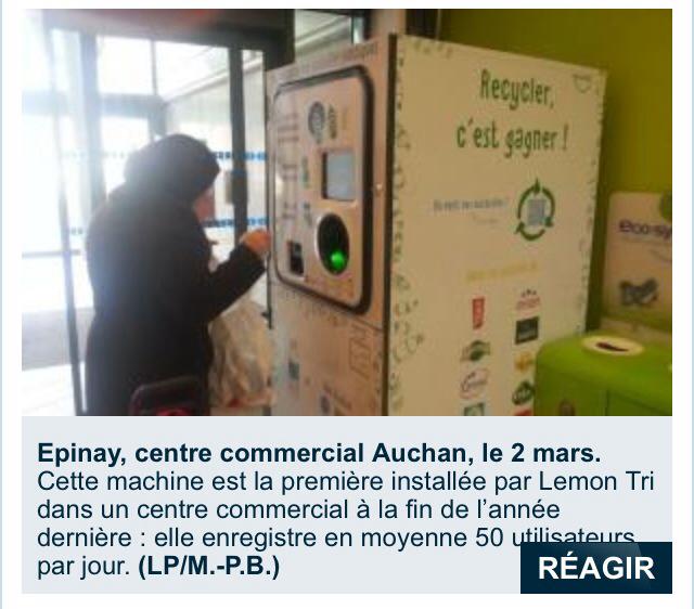 Et si on généralisait ENFIN le recyclage des bouteilles et canettes ? Carrefour , Auchan , Casino , Monoprix ?