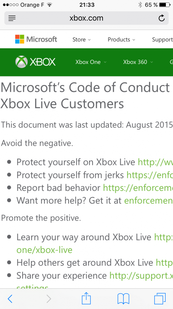 What if Xbox had its important Code of Conduct (on www.xbox.com) also accessible in local languages like French, Arabic, Turkish...?