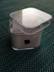 What if Apple made re- usable containers because their plastic boxes are beautiful but you can t close them again without sticker