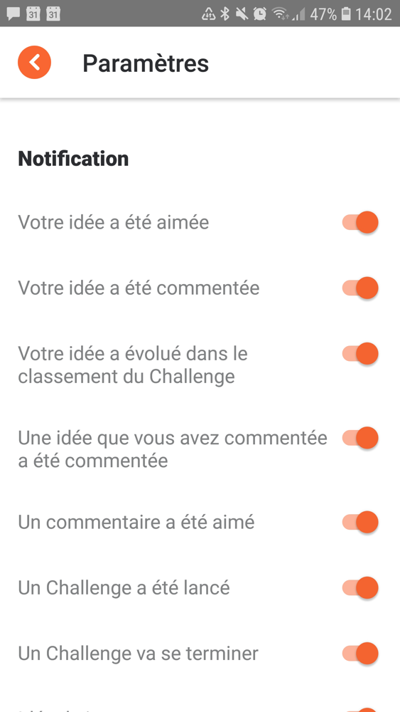 Et si braineet me permettait de gérer mes notifications sur les idées dont je détermine l'âge. exemple : je veux des notifications sur les/mes idées des 6 derniers mois uniquement.
