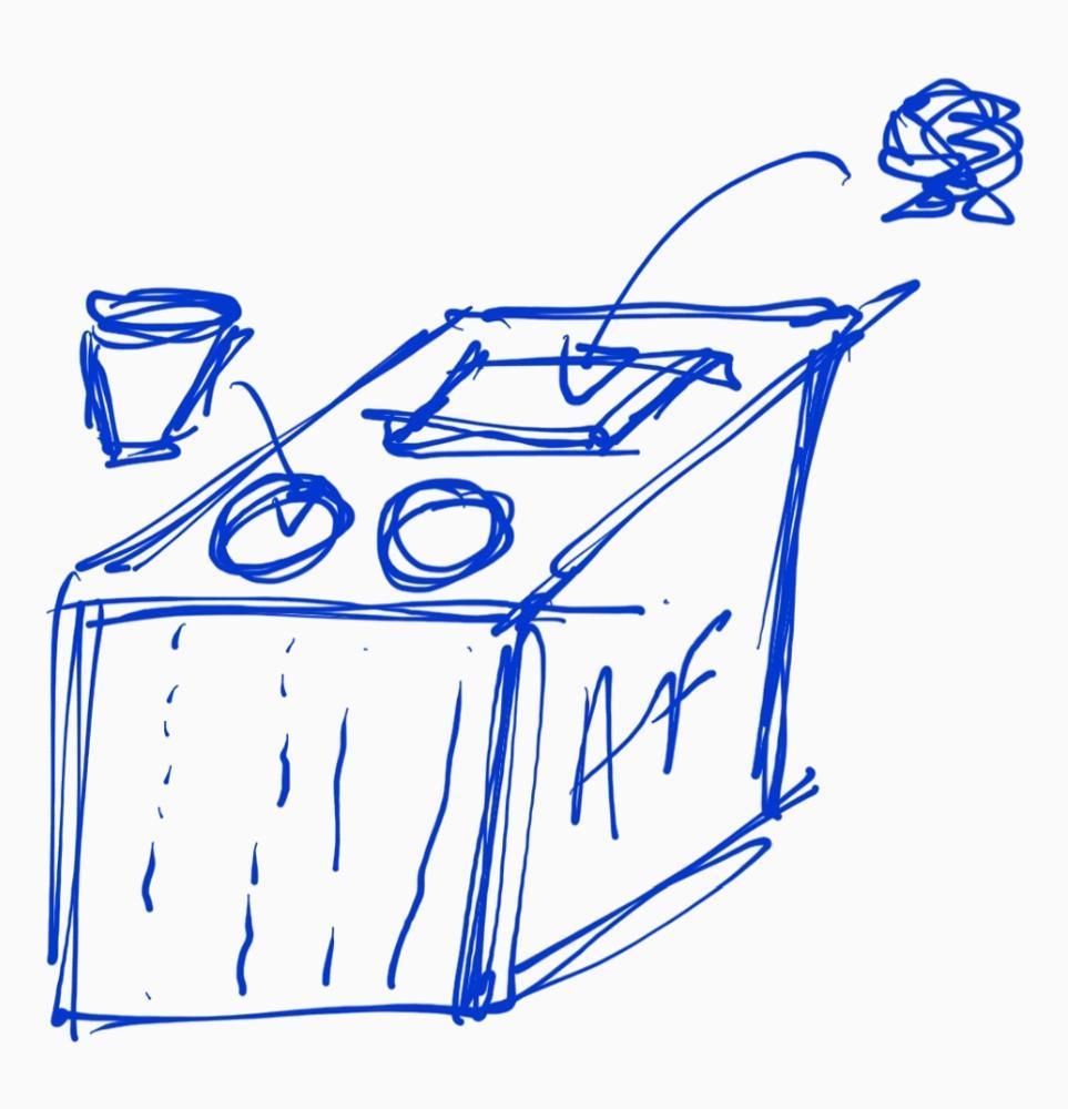 Et si AF mettait à disposition des PNC des poubelles de tri. D'un côté les déchets, de l'autre les gobelets empilés = gain de place...