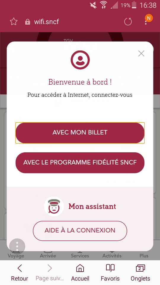 What if I could connect to the WiFi by scanning my Grand Voyageur card QR code (or even my face with Face ID) with my smartphone camera, instead of entering my ticket/reservation reference number? #travel #inoui #tgv #train
