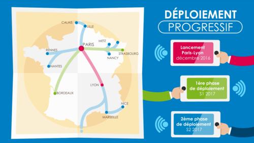 Bonjour,Le déploiement du service TGV Connect est en test sur la ligne Paris Lyon et sera déployé progressivement en 2017.Pour en savoir plus rendez vous sur  : http://www.sncf.com/fr/tgv-connect-internet