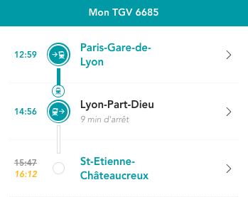 Le problème, SNCF, c'est que les retards ne sont affichés que pour la gare finale du TGV. C'est un peu ballot car 90% des gens qui sont dans ce train descendent à Lyon. Pourquoi ne pas indiquer le retard pour toutes les gares du trajet ?